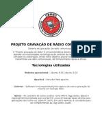 cProjeto Gravacao de Radio