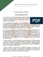 Nota de Imprensa 9- 2012[1] Final
