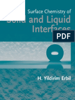 Surface Chemistry Solid and Liquid Interfaces