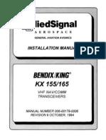 KX155,165 INSTALATION