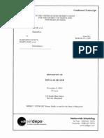 Zeller Deposition (Angela Swagler versus Hartford County Maryland)
