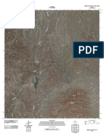 Topographic Map of Cienega Mountains