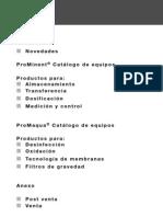 Catalogo de Equipos ProMinent 2011