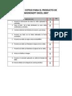 Lista de Cotejo de Excel