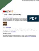 create a basic vexel image