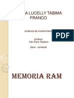 Memoria Ram Lucelly Tabima
