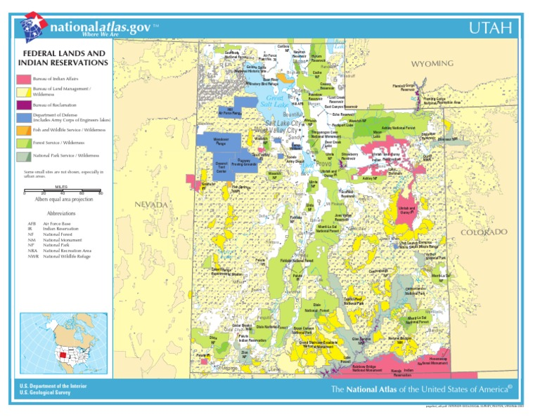 map of colorado map federal lands and indian reservations - 28 ...