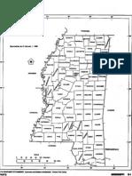 Outline Map of Mississippi