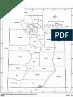 Outline Map of Utah