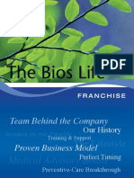 Bios Life Franchise - Team behind the Company