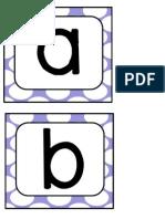 Purple Polka Letters