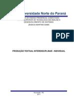 Portifólio individual Análise e Desenvolvimento de Sistemas
