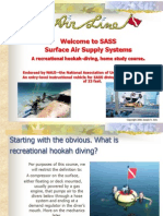 A recreational hookah-diving, home study course.