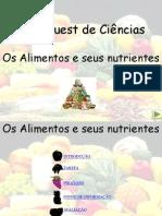 WEBQUEST Os alimentos e seus nutrientes