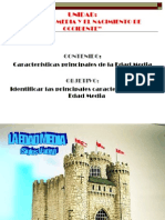 CARACTERÍSTICAS GENERALES DE LA EDAD MEDIA
