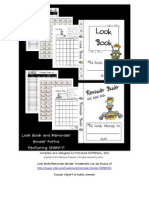 Look Book & Reminder Binder Forms Sparky