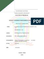 Informe de Elaboracion de Probetas de Concreto