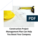 Construction Project Management Plan Can Help You Boost Your Company