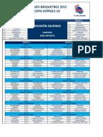 Fixture BB UC Ascenso Varones Mini-Infantil 2°S 2012
