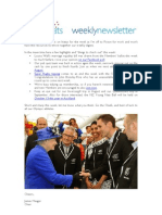Weekly Newsletter #22 2012