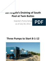 San Angelo's Draining of South Pool at Twin