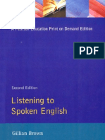 Listening to Spoken English