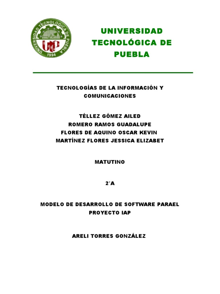 Eq 6 Modelo de Desarrollo de Software Para El Proyecto IAP