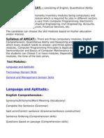 Syllabus for AMCAT