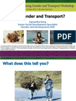Why Gender and Transport