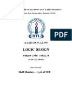 BTL Logic Design Lab Manual 10ESL38 3rd Sem 2011
