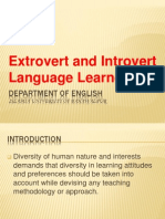 Extrovert and Introvert Learner