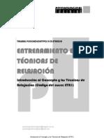 MUESTRA DEL CURSO DE INICIACIÓN AL CONCEPTO Y LAS TÉCNICAS DE RELAJACIÓN
