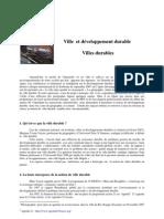 Villes & développement Durable _BOURDON