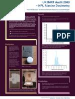 UK IMRT Audit 2009 – NPL Alanine Dosimetry