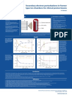 Secondary electron perturbations in Farmer type ion chambers for clinical proton beams