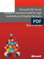 Microsoft SQL Server AlwaysOn Solutions Guide for High Availability and Disaster Recovery