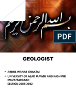 Presentation Khan Khwar Project Besham by Geologist Abdul Wahab Orakzai