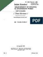1200 -Part 14 - Measurement of Bldgs & Civil Engg W