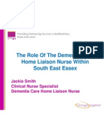 The Role Of The Dementia Care Home Liaison Nurse Within South East Essex
