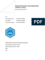 Pembuatan dan Analisis Salep Obat Luka Dari Ekstrak Pegagan (Centella Asiatica (L.) Urban)