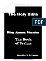 English KJV Holy Bible the Book of Psalms R S Chaves PDF