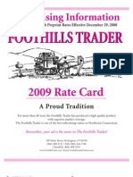 2009 FHT Rate Card