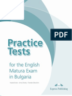 Practice Tests for the Matura Exam in Bulgaria