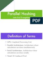 Parallel Hashing 1