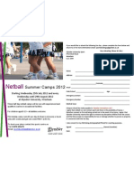 Netball Camps at Glyndwr University Summer 2012