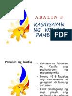 Aralin 3 - Kasaysayan Ng Wikang Pambansa