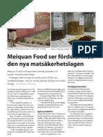 """""""Ny matsäkerhetslag i Kina"""", för Livsmedel i fokus"""