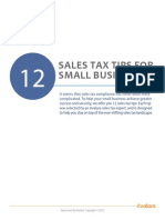 12 Sales Tax Tips for Small Business Owners