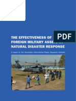 The Effectiveness of Foreign Military Assets in Natural Disaster Response