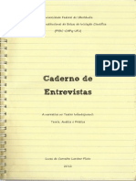 "Caderno de entrevistas ""A narrativa no Teatro Infantojuvenil"